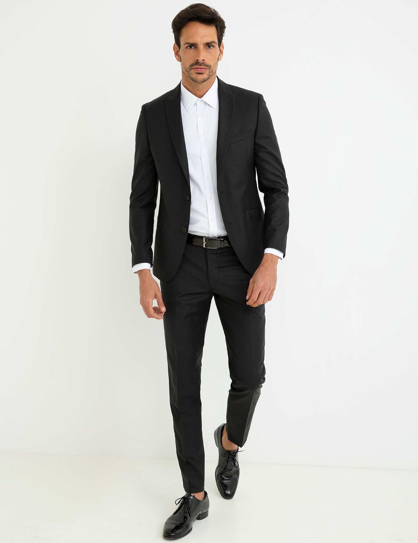 Siyah Ekstra Slim Fit Ceket