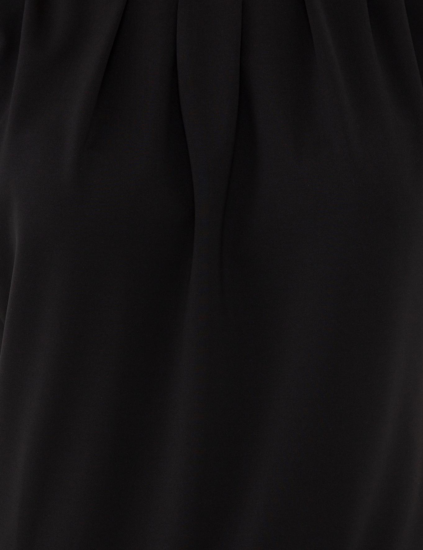 Siyah Standart Fit Bisiklet Yaka Zıbınlı T-Shirt