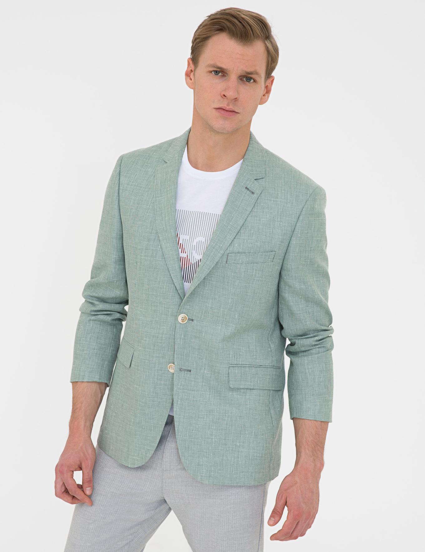Yeşil Slim Fit Ceket
