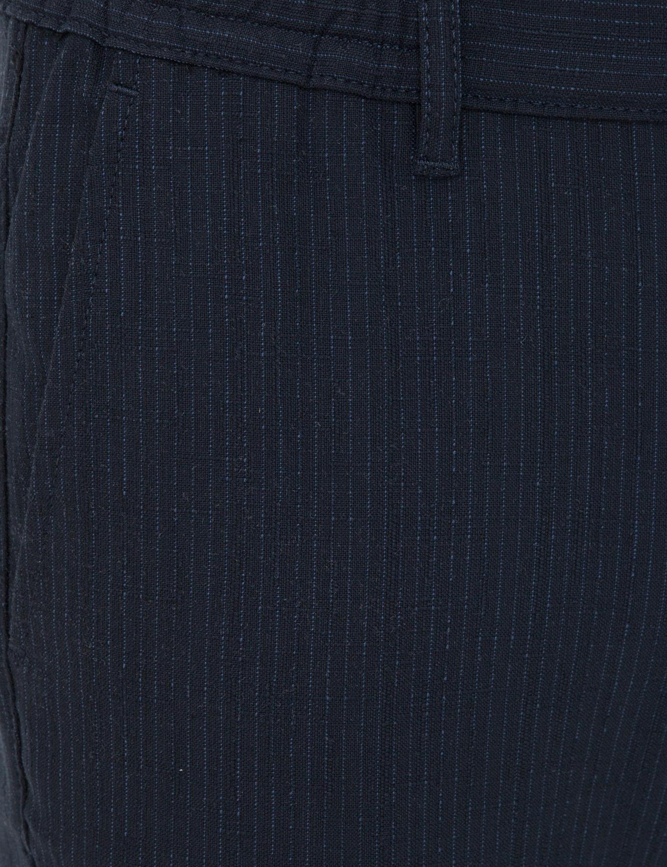Lacivert Carrot Fit Chino Pantolon