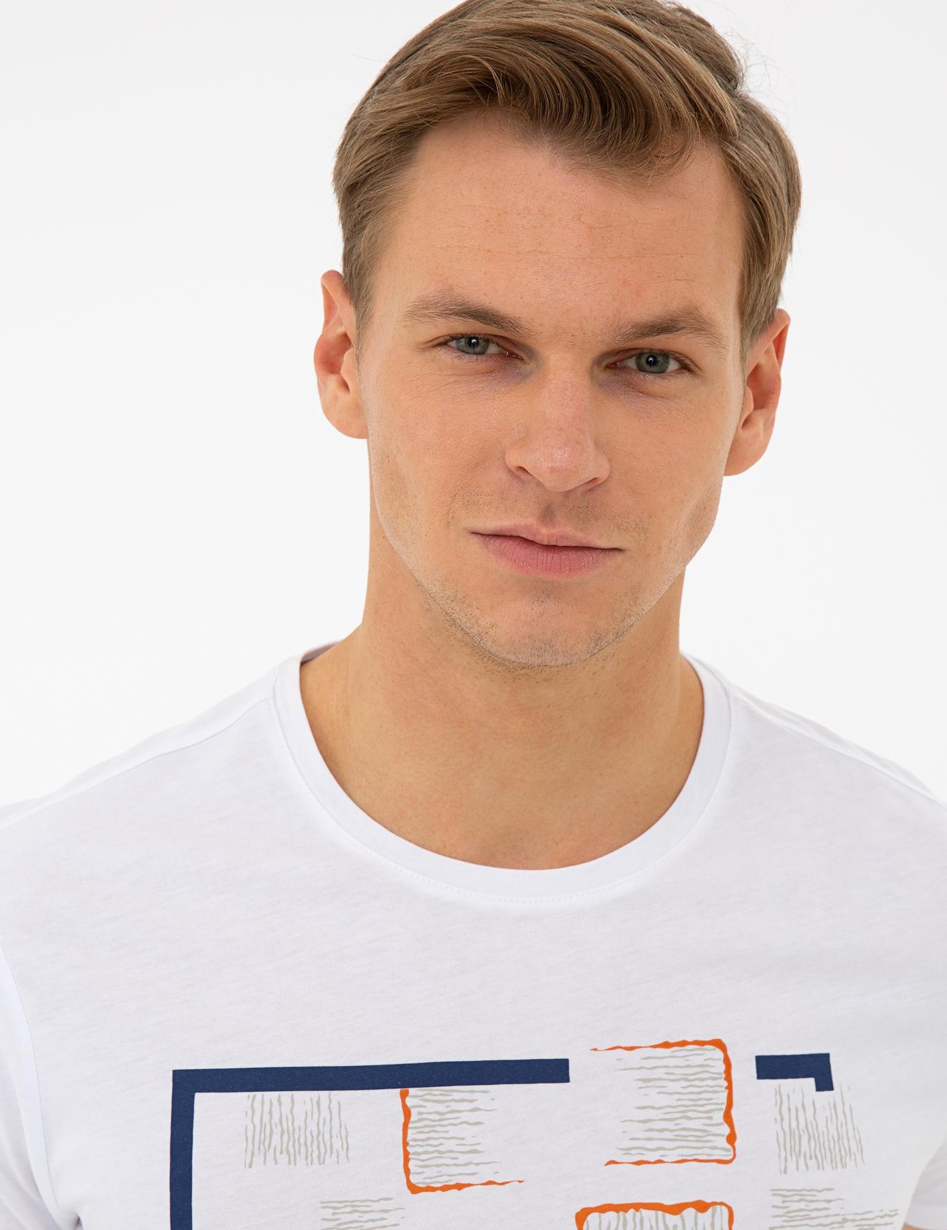 Lacivert Slim Fit Bisiklet Yaka T-Shirt