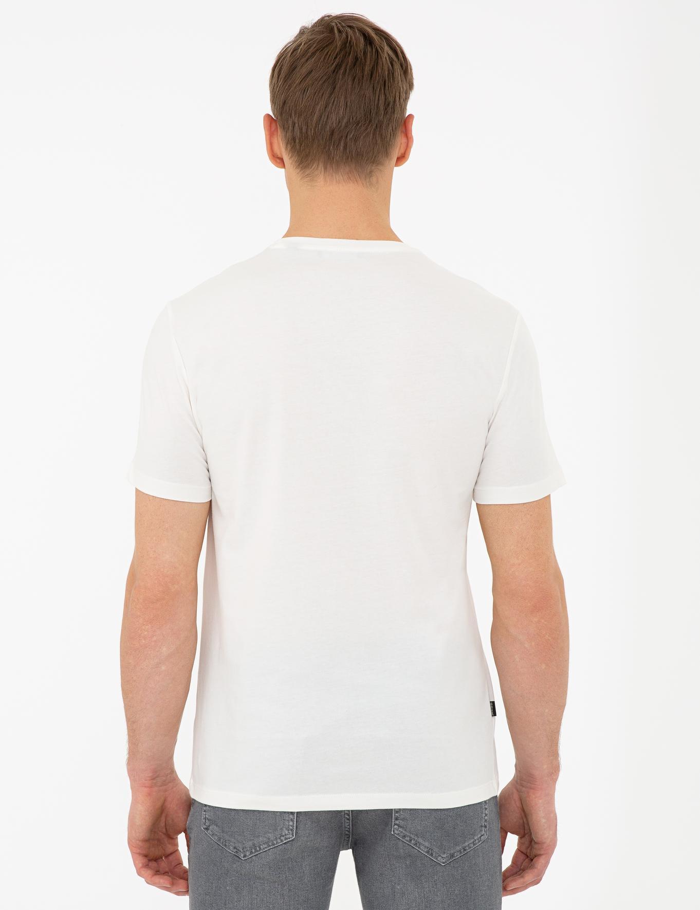 Gri Slim Fit Bisiklet Yaka T-Shirt