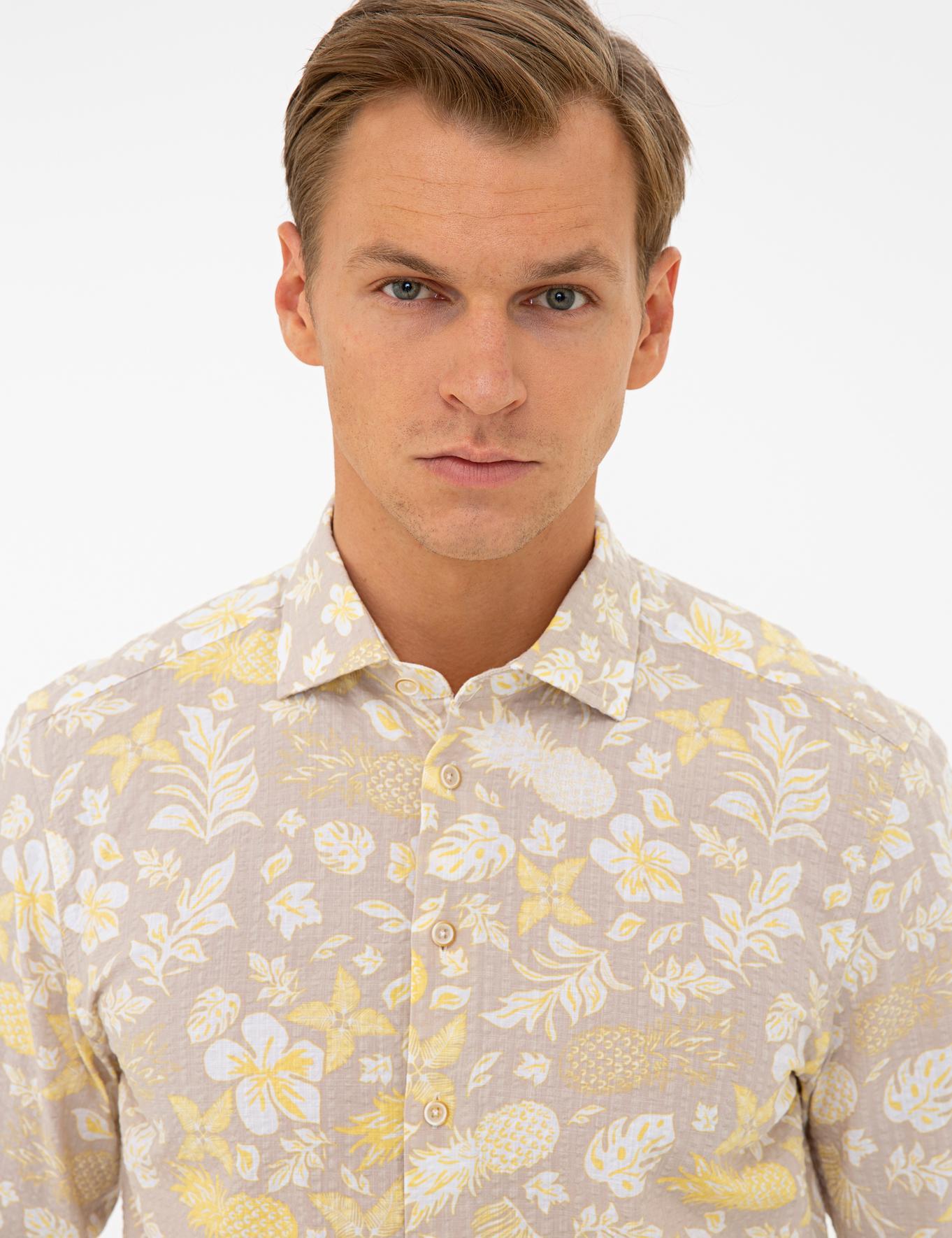 Sarı Regular Fit Gömlek