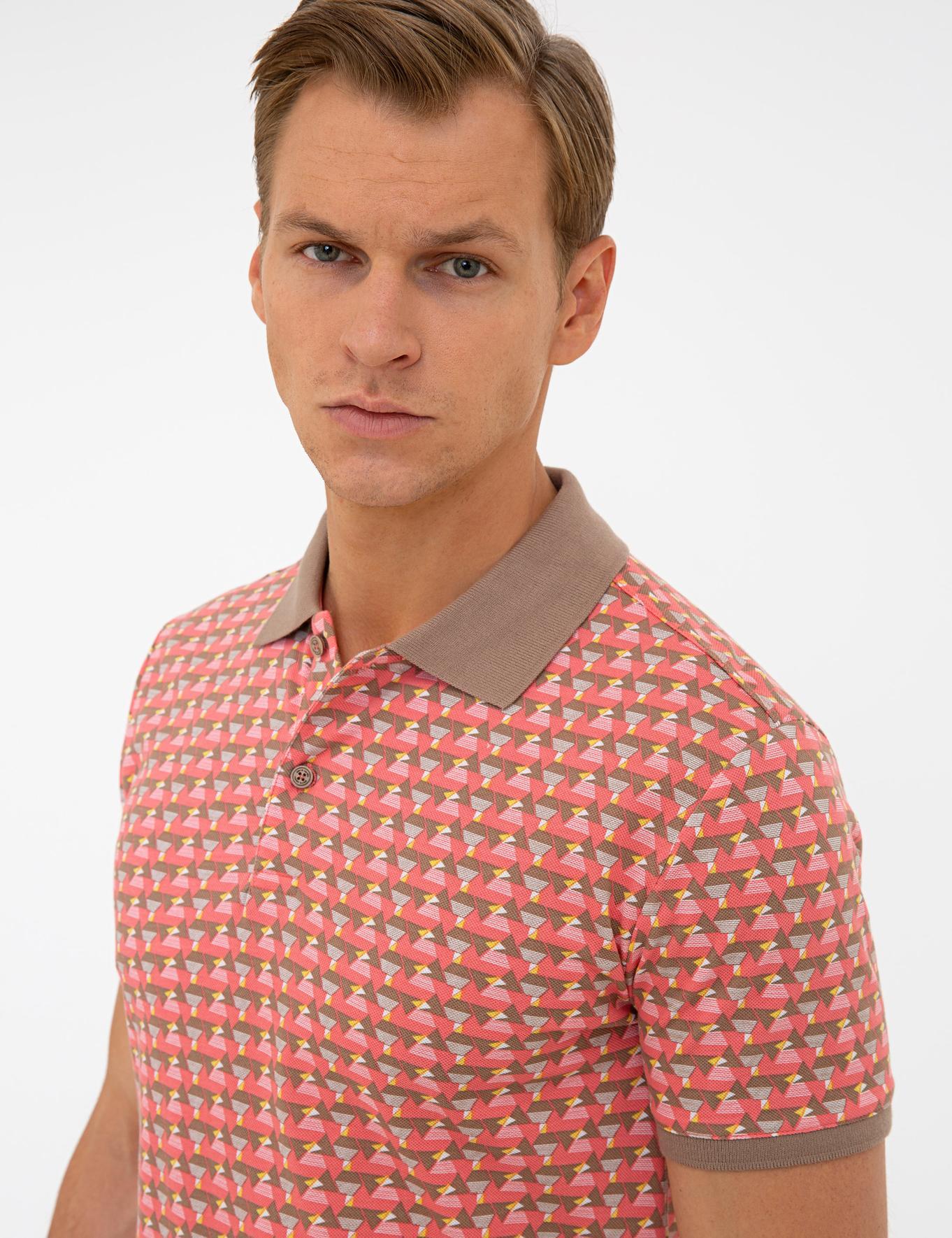 Mercan Slim Fit Polo Yaka T-Shirt