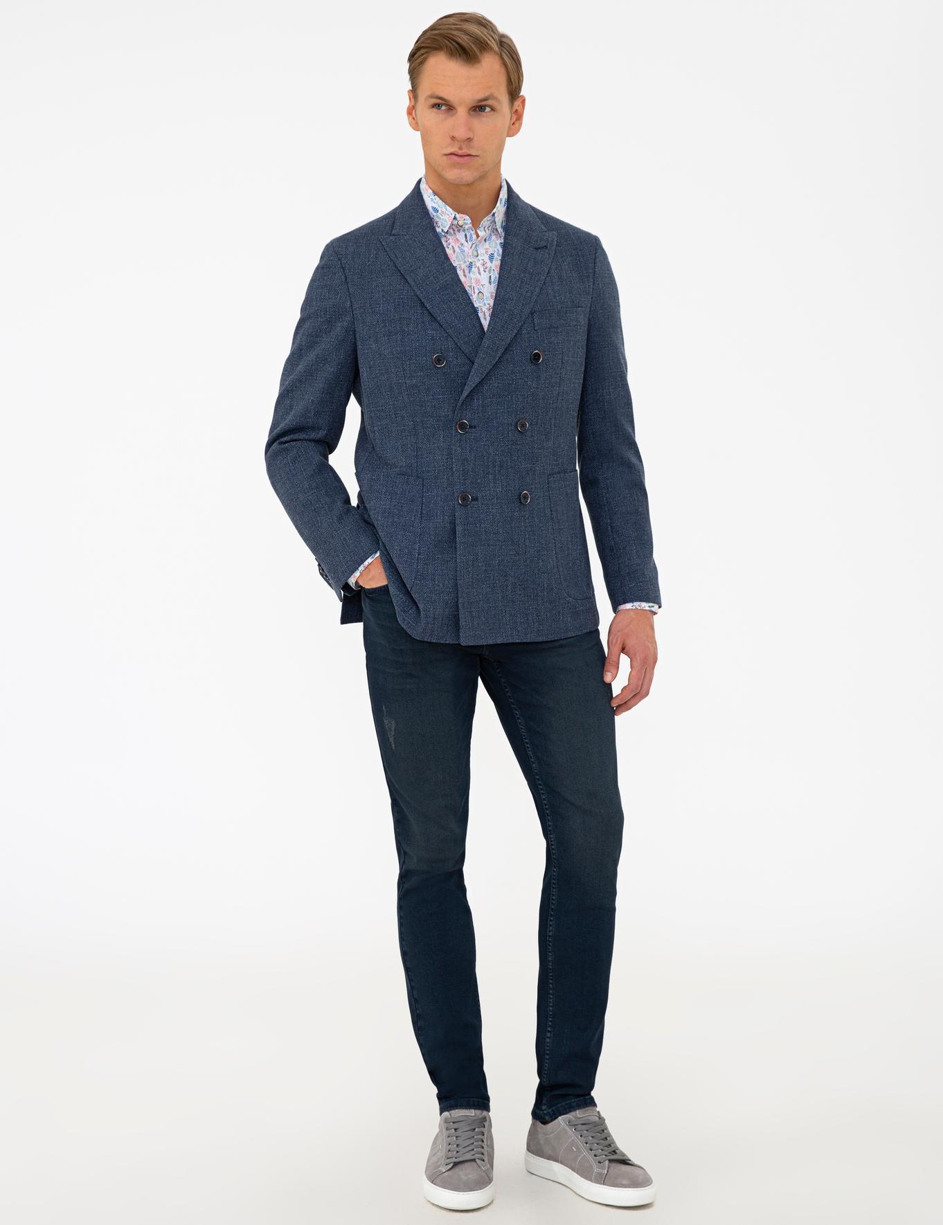 Mavi Slim Fit Kruvaze Ceket