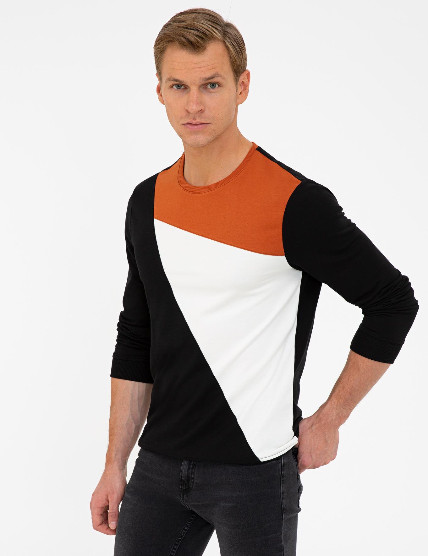Siyah Slim Fit Sweatshirt