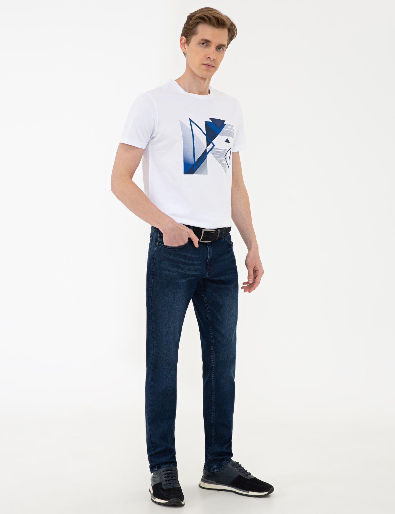 Indigo Slim Fit Denim Pantolon