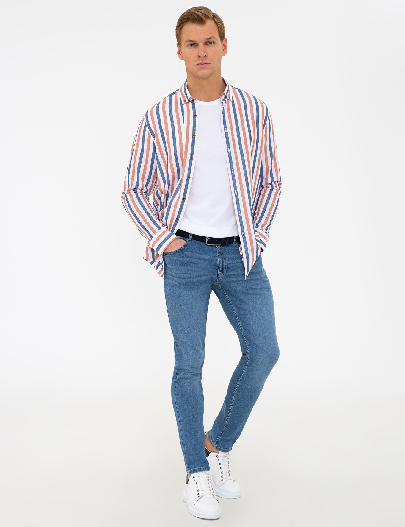 Açık Mavi Slim Fit Denim Pantolon