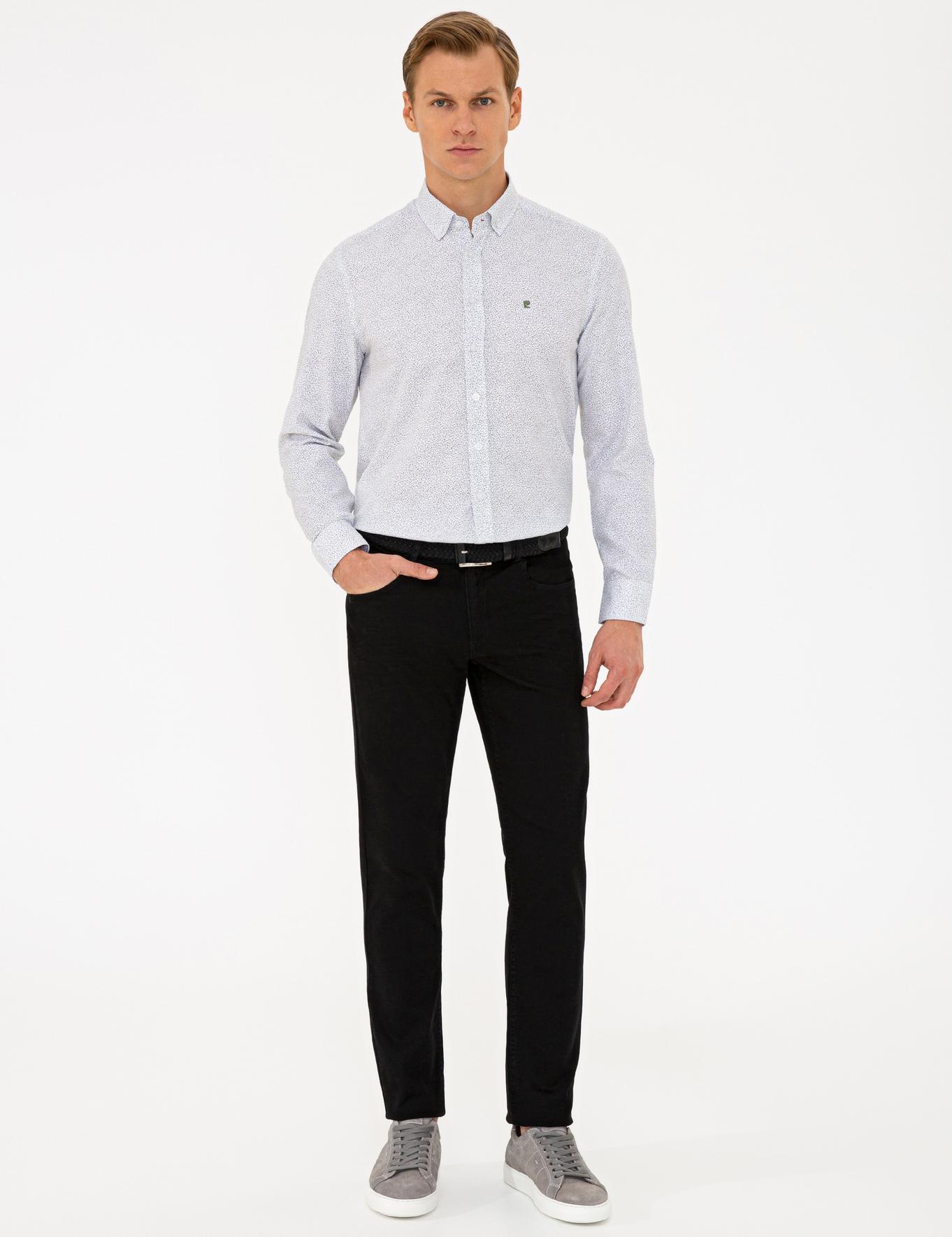 Siyah Slim Fit Denim Pantolon