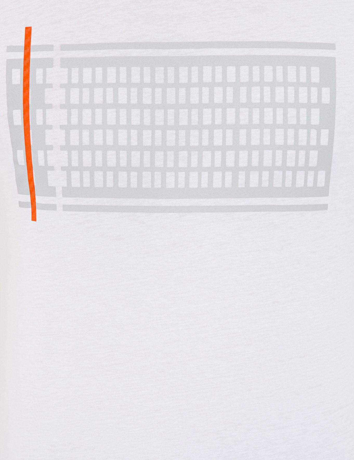 Beyaz Slim Fit Bisiklet Yaka T-Shirt