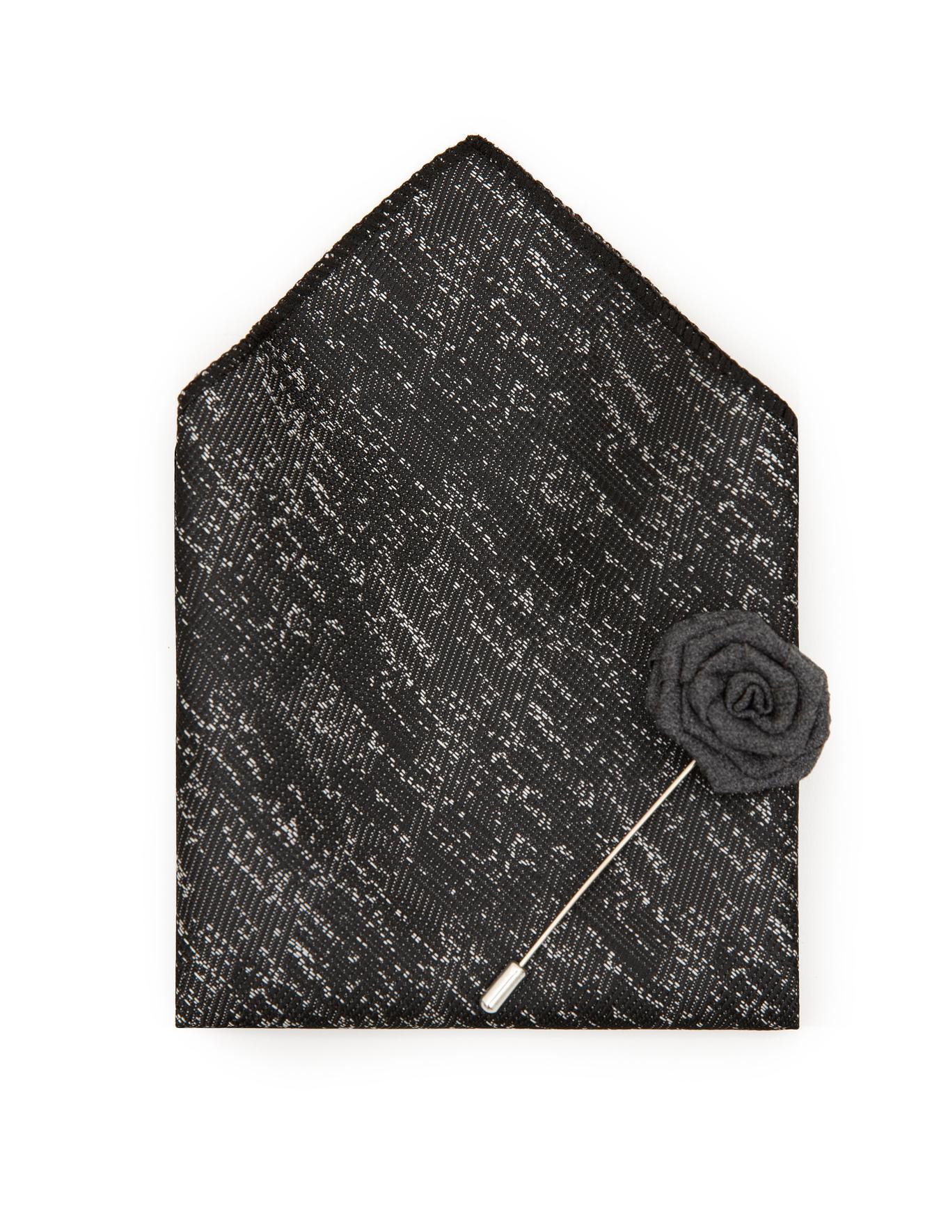 Siyah 3'lü Kravat Seti