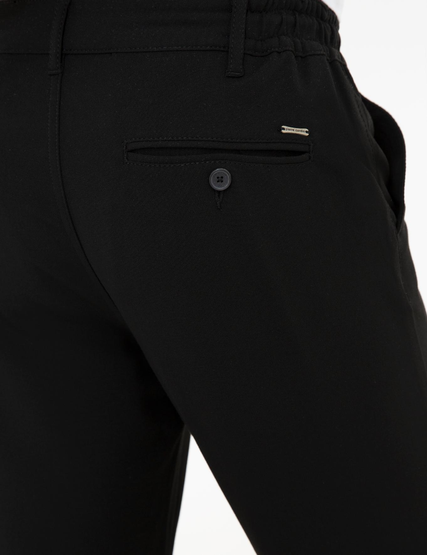 Siyah Jogger Fit Chino Pantolon