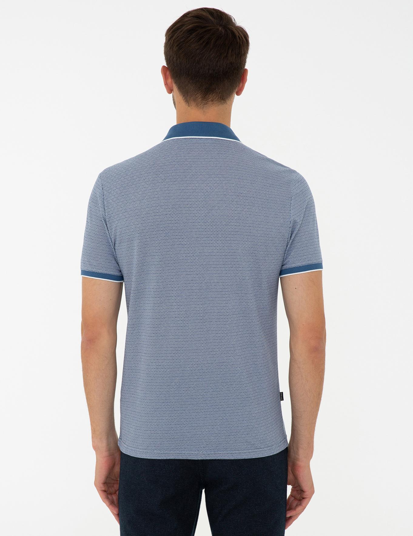Lacivert Slim Fit Polo Yaka T-Shirt