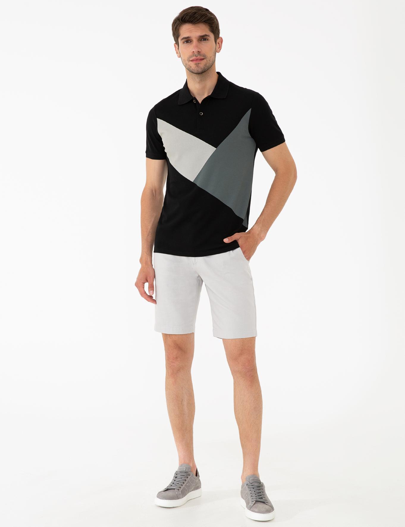 Siyah Slim Fit Polo Yaka T-Shirt