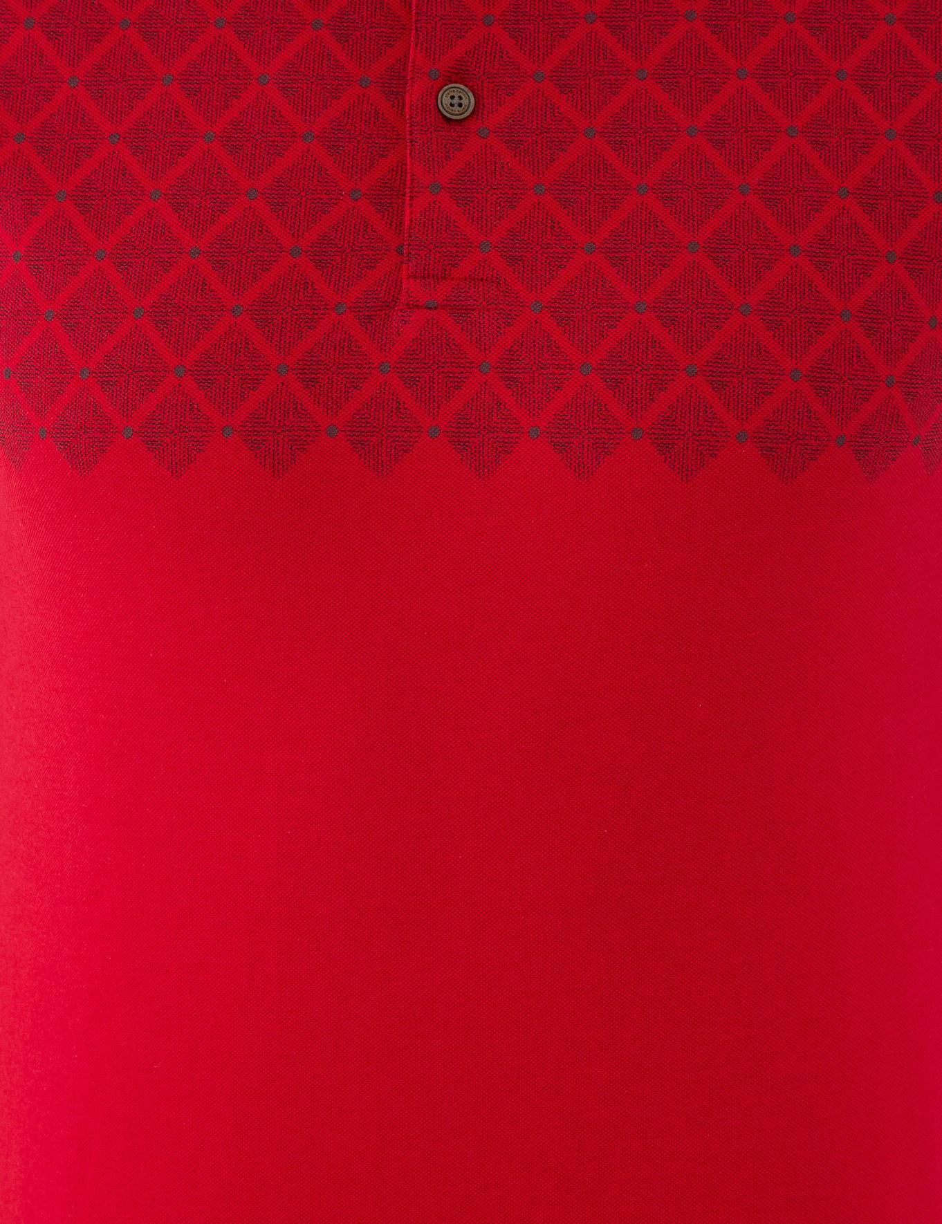Kırmızı Slim Fit Polo Yaka T-Shirt