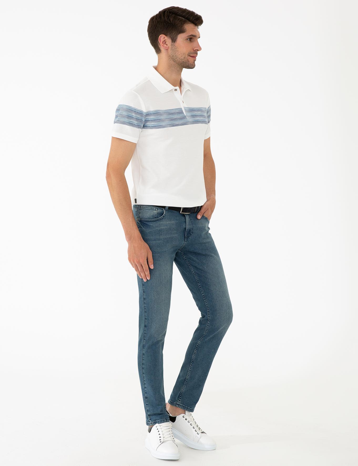 İndigo Slim Fit Denim Pantolon